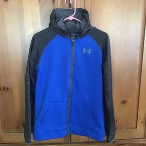 Under Armour Boys Cold Gear Youth Full Zip Hoodie